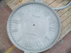 Antique clock powder coated