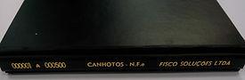 Livro de canhotos Pasta
