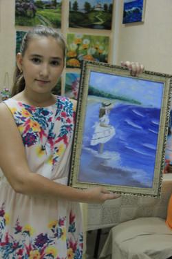 Юная художница и ее вторая картина