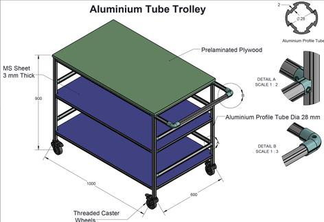 Tubular Profile Trolley