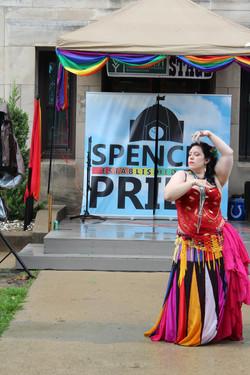 Michelle w DDBD at Spencer Pride