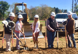 Groundbreaking at park.