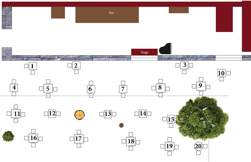 Patio Dinner Cabaret Seating Chart 9-17