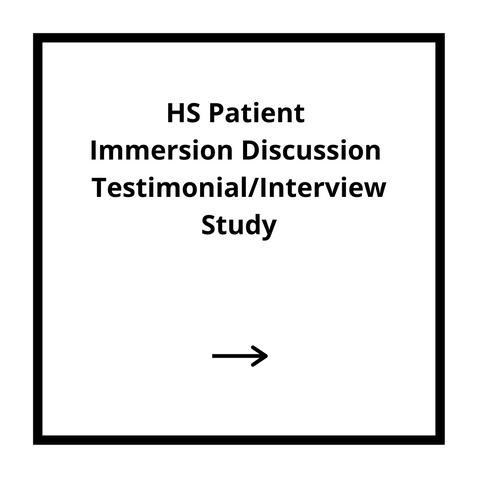 HS Patient Immersion Discussion Testimonial/Interview Study