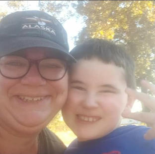 Me and my biggest fan, my nephew during a walk