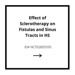 Effect of Sclerotherapy on Fistulas and Sinus Tracts in HS