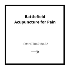 Battlefield Acupuncture for Pain