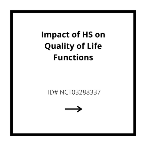 Impact of HS on Quality of Life Functions