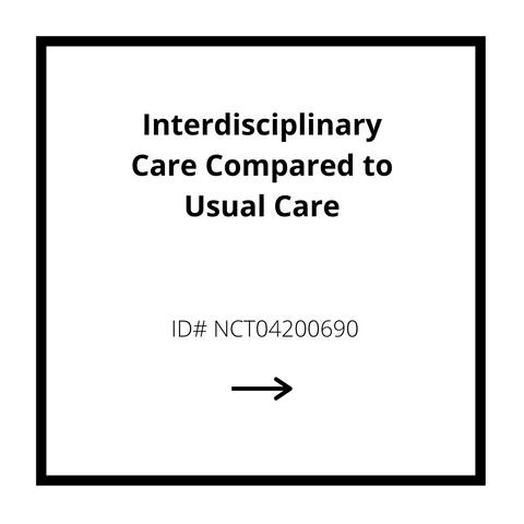Interdisciplinary Care Compared to Usual Care