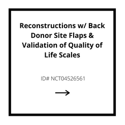 Reconstructions w/ Back Donor Site Flaps & Validation of QOL Scales