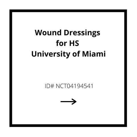 Wound Dressings for HS University of Miami