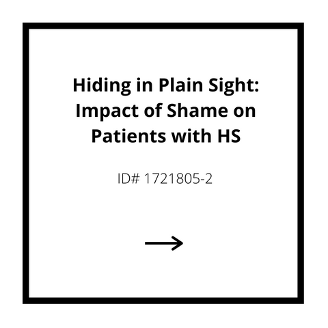 Hiding in Plain Sight: Impact of Shame on Patietns with HS