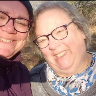 Mommie and me walk on our home track