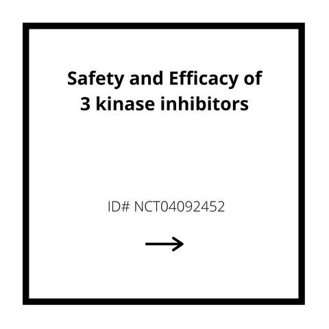 Safety and Efficacy of 3 kinase inhibitors