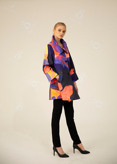 SAMUEL DONG - F19010 ABSTRACT SWING COAT