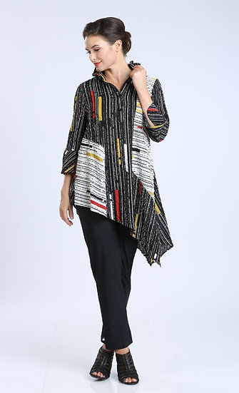 IC COLLECTION #1599 MULTI STRIPE TOP