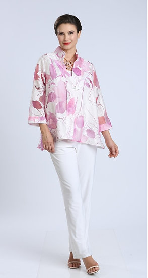 IC COLLECTION #1555J FLORAL JACKET