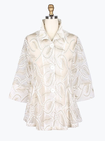 Damee - 2336 Sheer Leaf Jacket