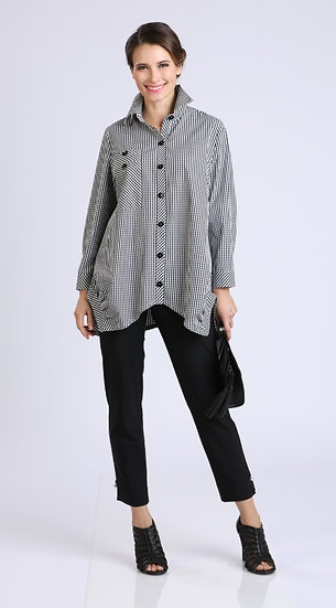 IC COLLECTION #8423B CHECKER SIGNATURE BLOUSE