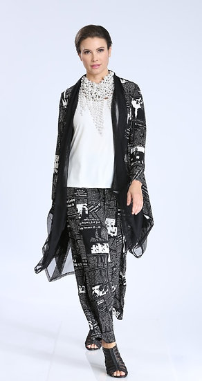 IC COLLECTION #1558P NEWSPAPER POLY PANT