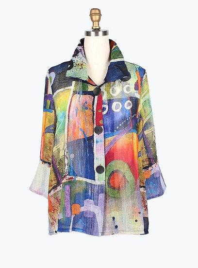 Damee - 4607 Artsy Short Jacket