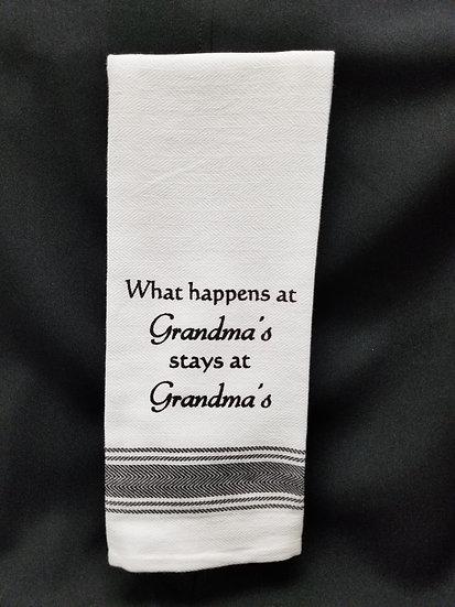 #148863 - HAPPENS AT GRANDMA'S TOWEL