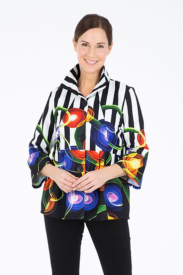 Damee - 4515 ABSTRACT SWIRL JACKET