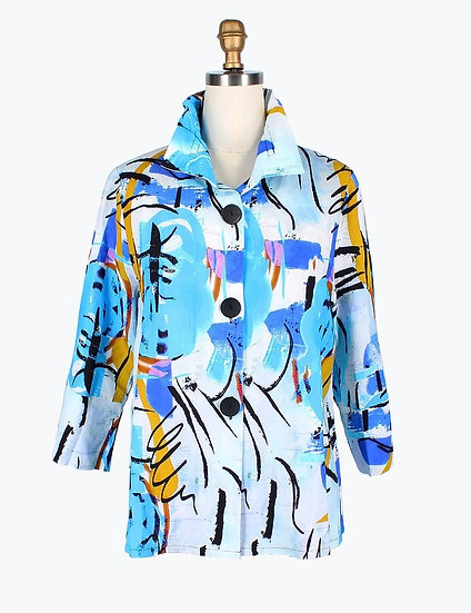 Damee - 4615 Artsy Drawstring Jacket