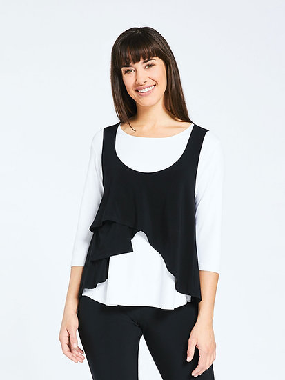 Sympli 21130 Sleeveless Crop Smock