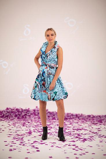SAMUEL DONG - S20150 LEOPARD BUBBLE DRESS