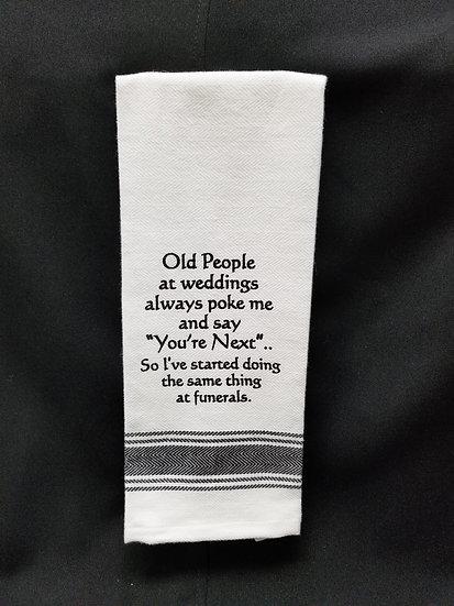 #163501 - OLD PEOPLE /WEDDING TOWEL