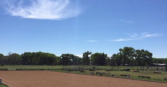 Arena and pastures at Future Hope Equestrian