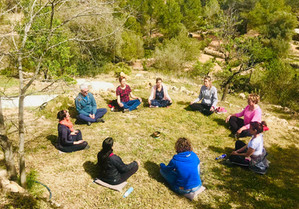 Mindful meditation outside