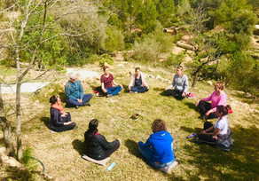 Mindful meditation outside