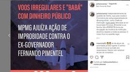 Chefe do MP pede desculpas a Pimentel por divulgação desrespeitosa