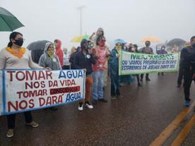 Rola Moça faz ato contra instalação de mineradora na Grande BH