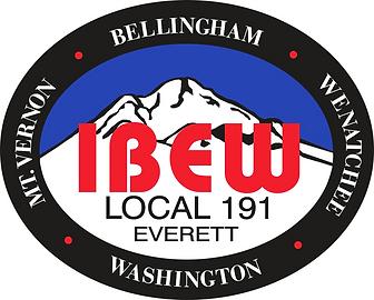 IBEW 191 Oval - PREFERRED - Print Qualit