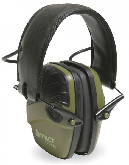 Impact Sport Electronic Earmuff Green – NRR 22 dB