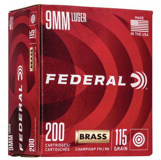 Federal Champion Training Ammunition 9mm 115 grain - 200/BOX $64.99
