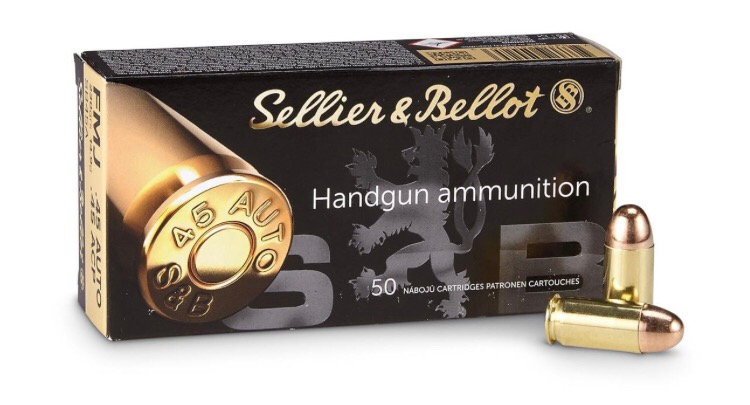 Sellier & Bellot 45 Auto, 230 Grain, Full Metal Jacket