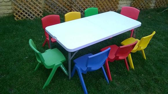 Set de mesa + 8 sillas