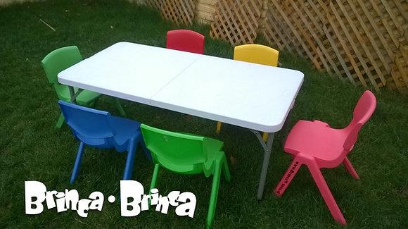 Set de mesa + 6 sillas