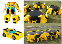 Transformes Amarillo Negro