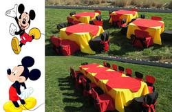 Mickey Carpeta Roja Mantel Amarillo