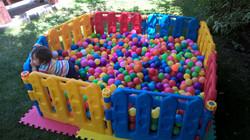 Corral de pelotas 8 lados + 1200 pel