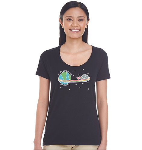 To the Moon and Back Deep Scoop Tee
