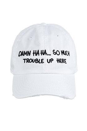 Trouble Cap White