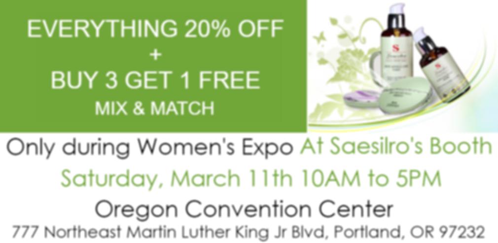 Saesilro women's expo event sale