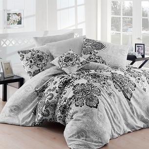 Luxury Gri egyszemélyes pamut ágynemű