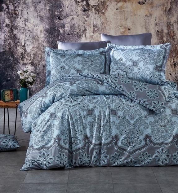 Barcon Mavi egyszemélyes szatén ágynemű